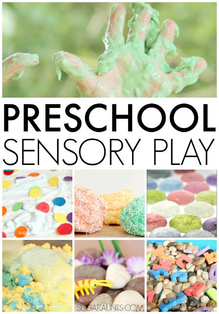 Preschool sensory play and exploratory learning