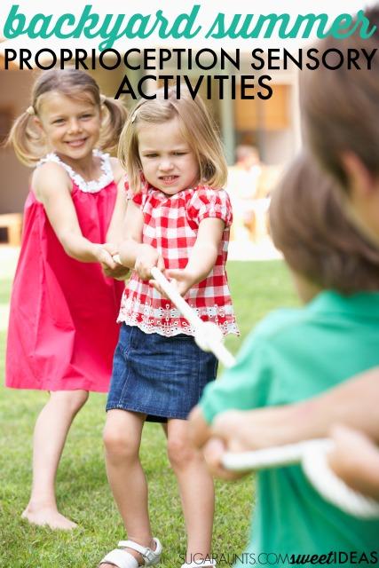 proprioception sensory activities for backyard play