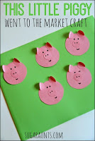 This little piggy nursery rhyme kindergarten craft