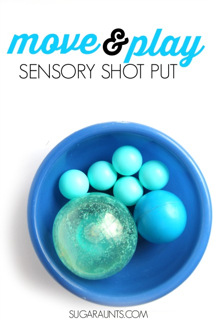 Snowball Shot Put Sensory Play for Kids