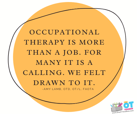 Occupational therapy month quote