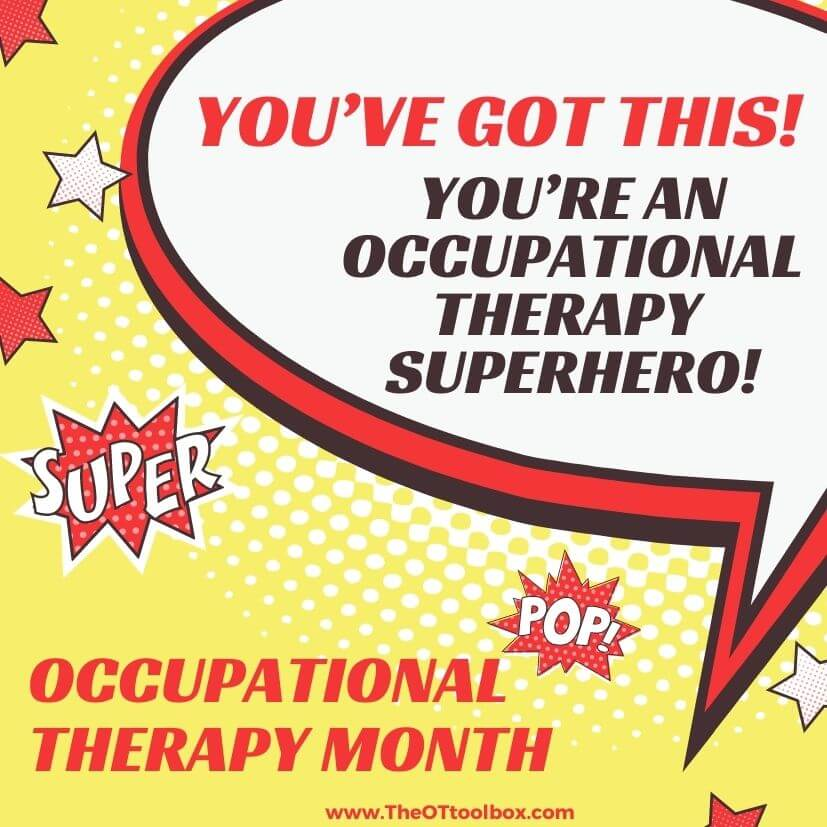 Occupational therapy month graphic