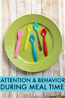 Attention and behavior and meal time problems, use these tricks to help kids with independence during meals.