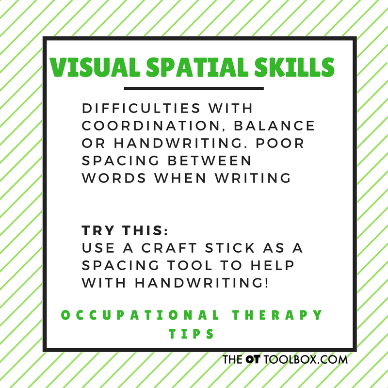 Visual spatial skills