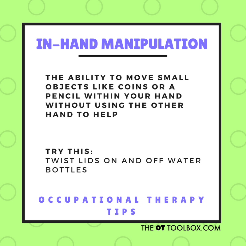 In-hand manipulation activities