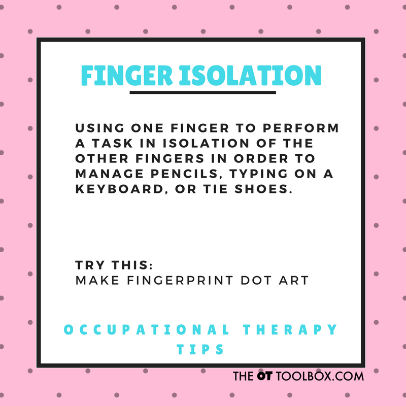 What is finger isolation