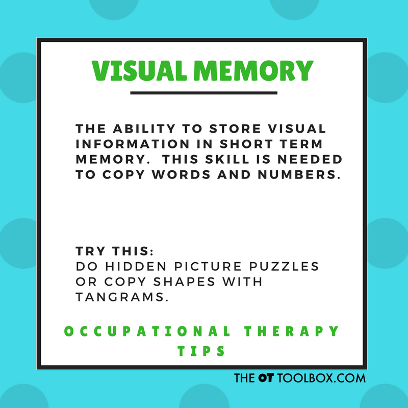 What is visual memory