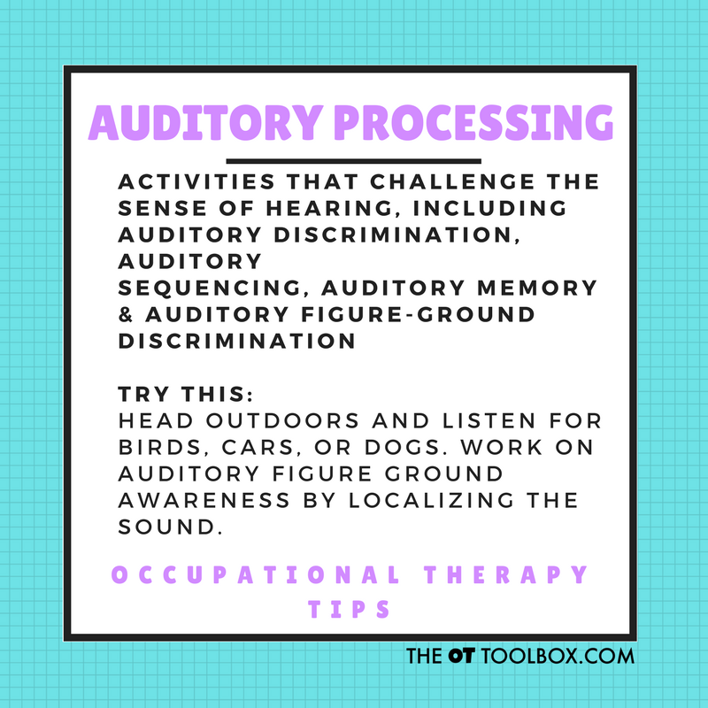 auditory processing activities