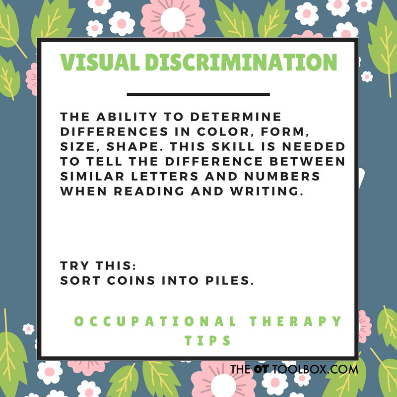 Visual discrimination activity