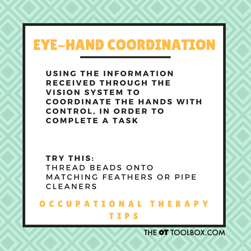 Eye-hand coordination activities
