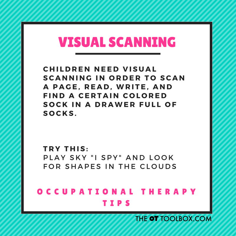 Visual scanning activity
