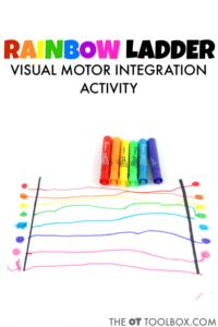 Rainbow ladder visual motor integration activity