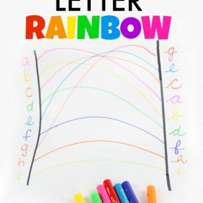 Visual Motor Letter Rainbow
