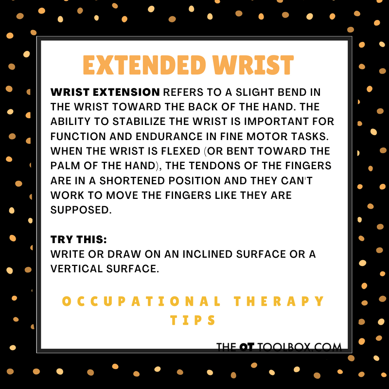 Wrist extension in occupational therapy month
