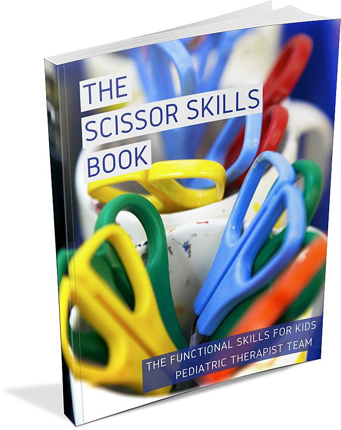 The Scissor Skills Book is a resource for working on using scissors with kids