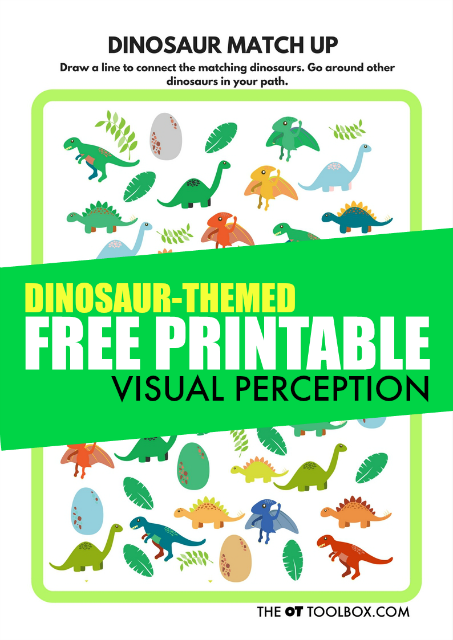 Free Visual Perception Printable Dinosaur Theme - The OT Toolbox