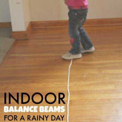 Indoor Balance Beam Ideas for a Rainy Day