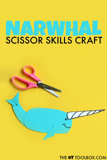 Make a narwhal craft that goes along with the children's' book Not Quite Narwahal