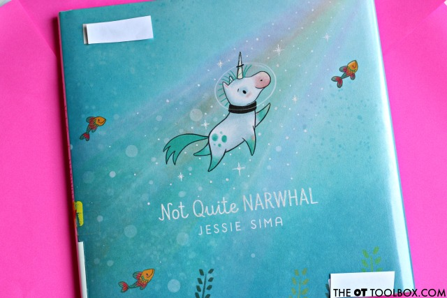 Not Quite Narwhal book and narwhal craft that kids will love making while working on scissor skills.