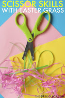 Scissor skills Easter activity