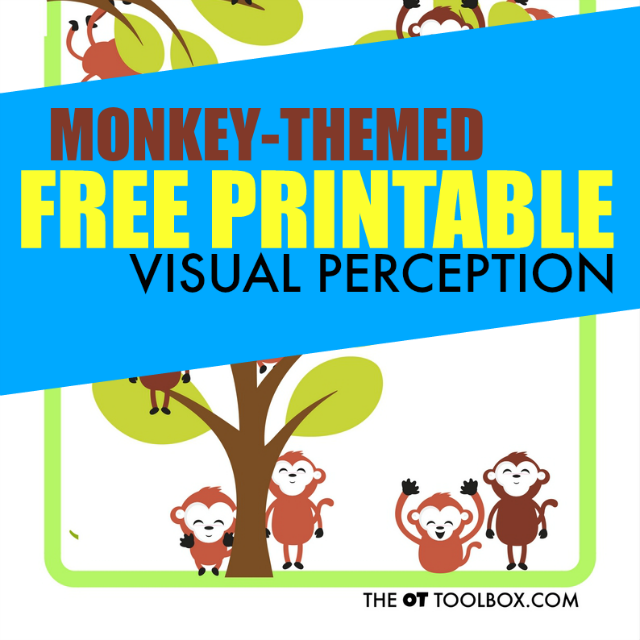 Visual perception free printable sheet for addressing skills like visual -figure ground, visual discrimination, visual memory and other perceptual skills.