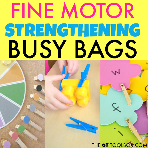 Use clothes pins to help kids build and develop fine motor skills like hand strength.