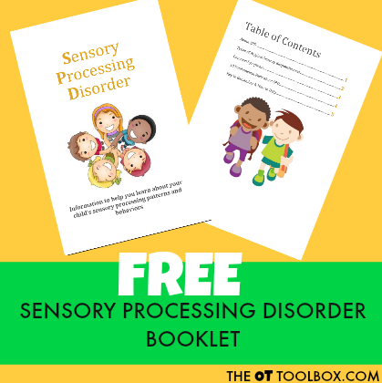 Finding out information on Sensory processing disorder can be confusing! Get this free printable packet on sensory processing disorder information