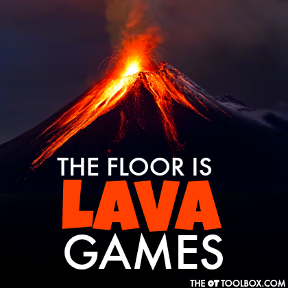 Play these The Floor is Lava Games with your kids to build development of skills like motor control, sensory input, motor planning, gross motor skills, core strength, and balance.
