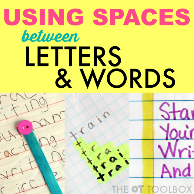 Tricks and tips for activities to help with spatial awareness handwriting activities