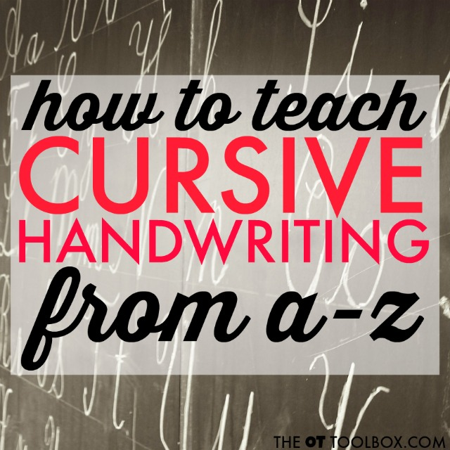 Teach kids cursive writing with these cursive handwriting tips and tools.