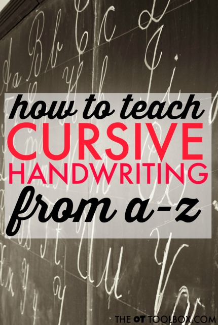 Teaching cursive writing is easy with these handwriting tricks, verbal prompts, visual cues, and writing strategies for learning cursive handwriting.