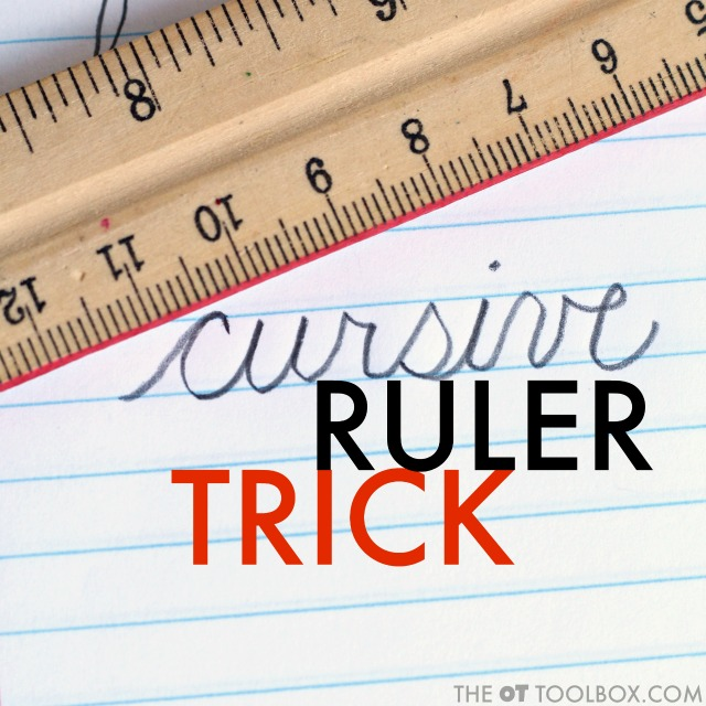 Use these handwriting letter size tricks to help kids with cursive legibility and consistent cursive handwriting.
