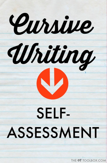 Use these tricks to help students learn cursive handwriting for a cursive handwriting self-assessment to check for accurate letter formation and legibility when learning to write cursive writing.