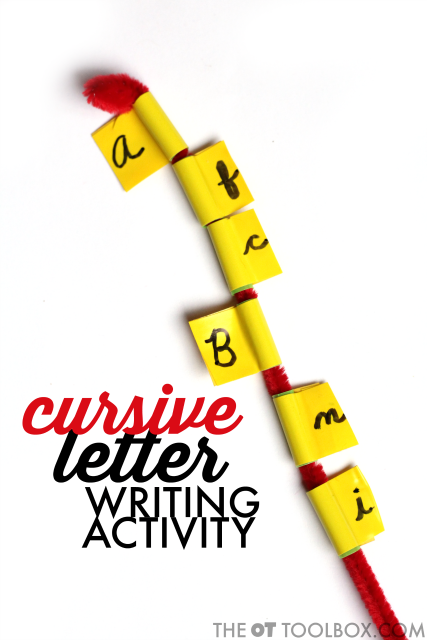cursive letter formation activity