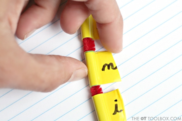 Use this cursive letter activity to help with cursive letter identification and carryover of cursive handwriting skills.