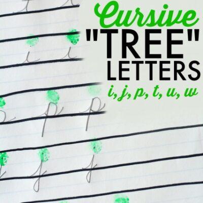 Teach Cursive Tree Letters