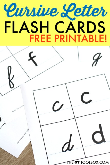 free cursive letter writing flashcards