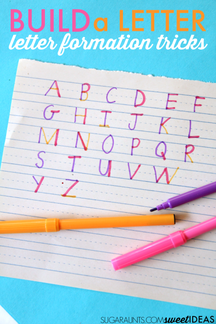 Letter formation activity with markers