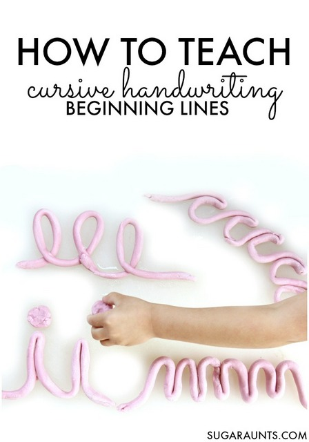 play dough cursive letters
