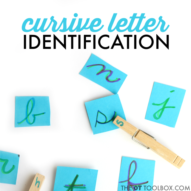 Use this cursive handwriting activity to help kids learn to write cursive letters and identify cursive letters.