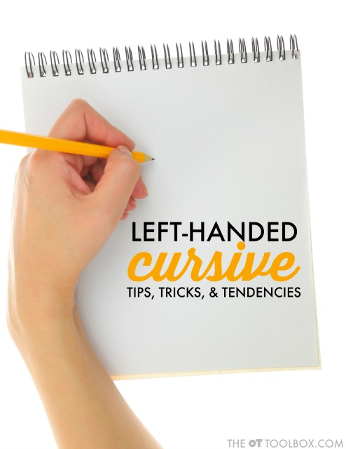 cursive writing for left handers