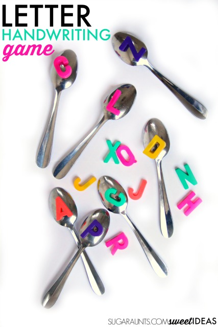 letter game with spoons
