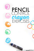 Work on handwriting with crayons using these easy precision of pencil control exercises. Kids love these ideas to work on fine motor skills and develop neat handwriting.!