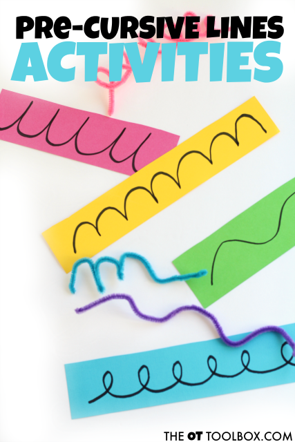 Use these pre-cursive activities to help kids develop the dexterity and motor control as well as the visual motor skills needed for writing in cursive.