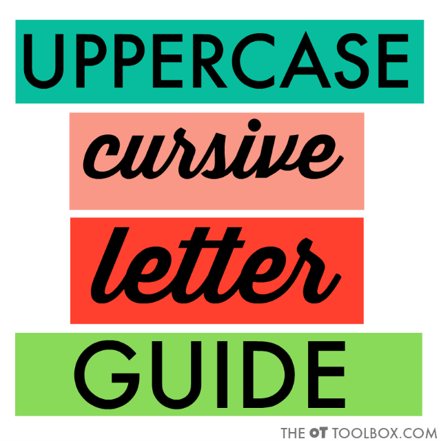 Here are the verbal prompts needed to teach uppercase cursive letter formation.
