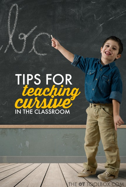 tips to teach cursive writing