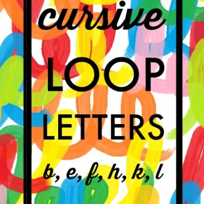 Cursive Handwriting Loop Letters