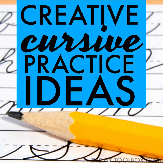 Try these creative ways to practice cursive writing to help kids learn to write cursive letters and write legibly.