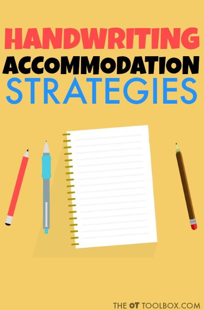 Use these handwriting accommodation strategies that can help kids with handwriting problems in the classroom.