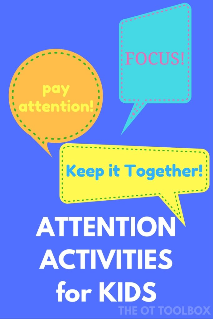 Attention activities for kids who are distracted